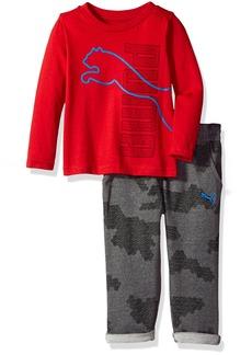 PUMA Toddler Boys' Three Piece Pant Hat and T-Shirt Set