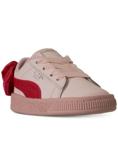 Puma Puma Toddler Girls  Basket Heart Patent Casual Sneakers from ... 96f496178