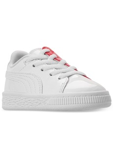 36f6dd5ba73 Puma Toddler Girls  Basket Crush Patent Casual Sneakers from Finish Line