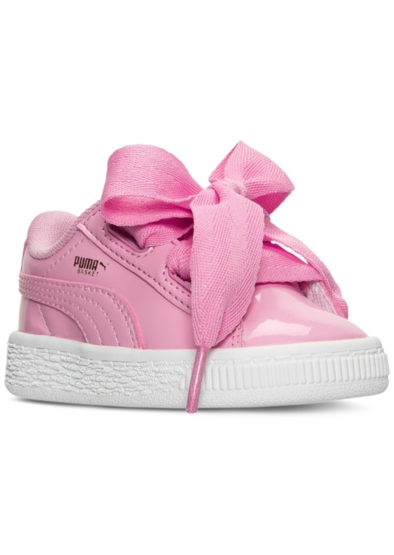watch ad6f9 c88e0 Toddler Girls' Basket Heart Patent Casual Sneakers from Finish Line
