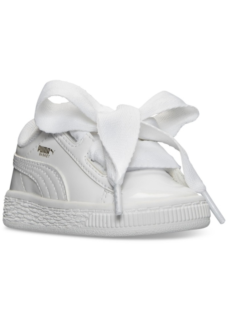watch b807f c8d51 Toddler Girls' Basket Heart Patent Casual Sneakers from Finish Line