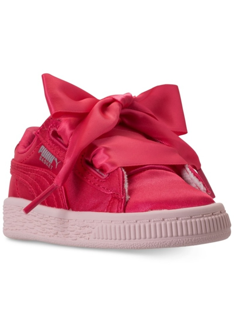 8d06c913999 Puma Toddler Girls  Basket Heart Tween Jr Casual Sneakers from Finish Line