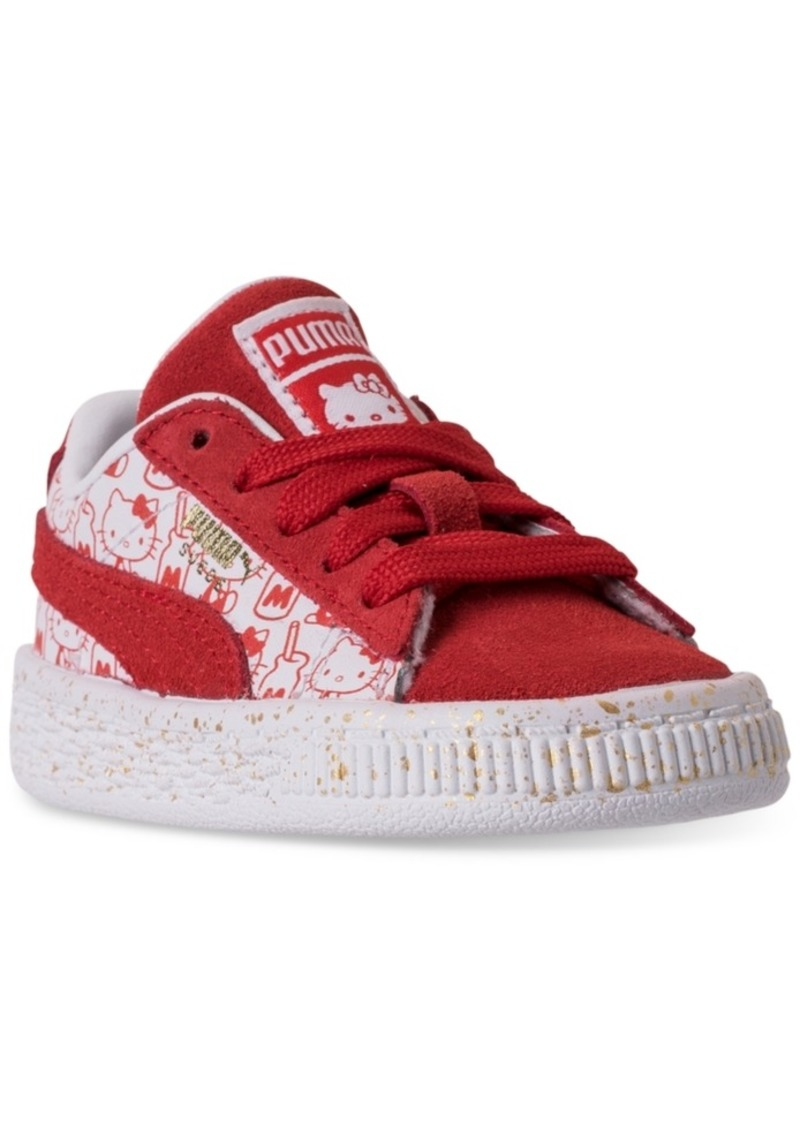 save off b43ff 0bd1c Toddler Girls' Hello Kitty Suede Classic Casual Sneakers from Finish Line