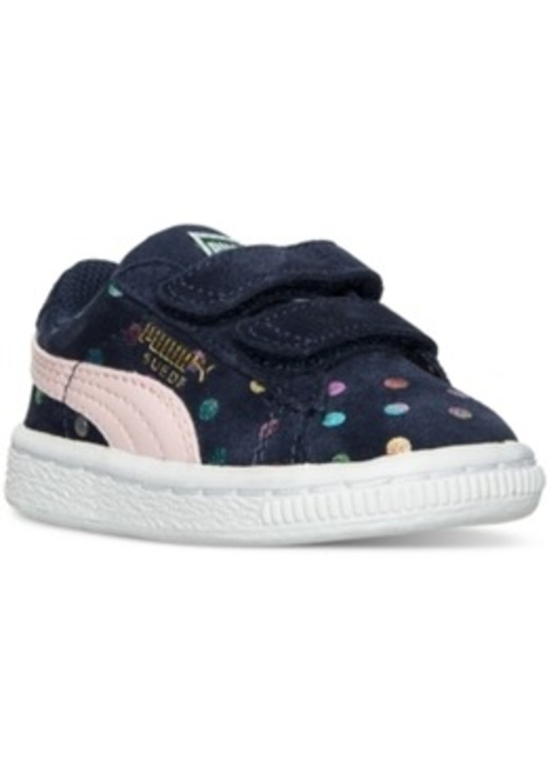 8804ec3879ca Puma Toddler Girls  Suede Dotfetti Ac Casual Velcro Sneakers from Finish  Line
