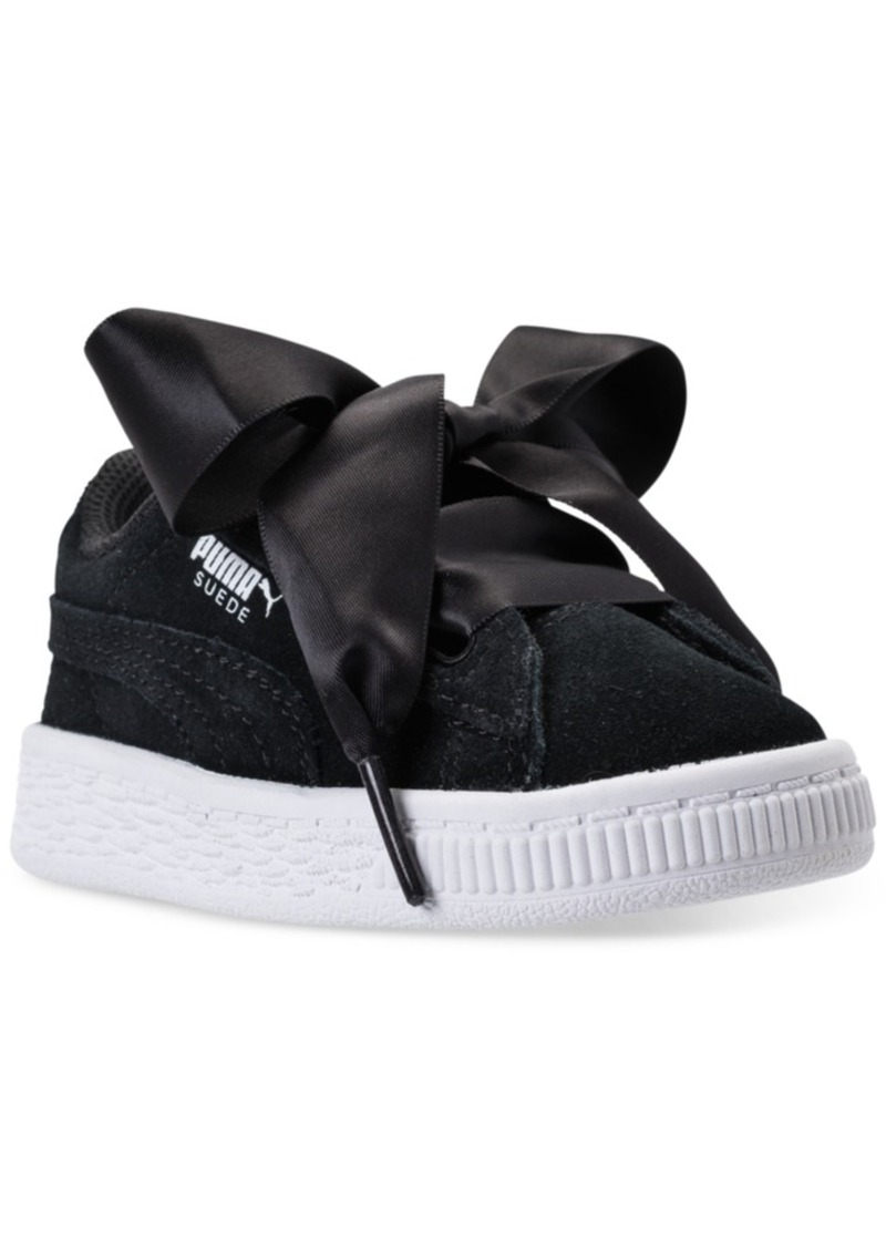 48c913c5c17 Puma Puma Toddler Girls  Suede Heart Casual Sneakers from Finish ...