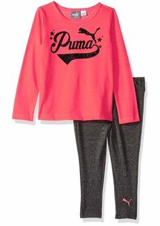 PUMA Toddler Girls' Top and Legging Set