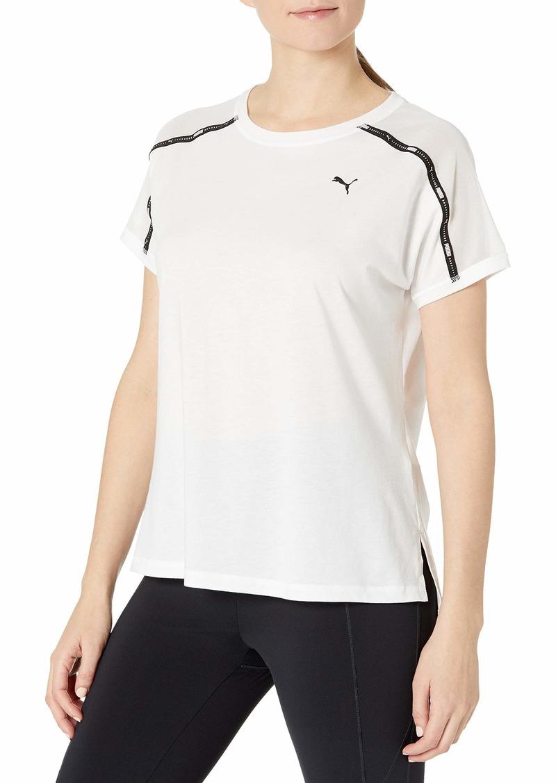 PUMA womens Train Logo Boyfriend Tee T Shirt   US