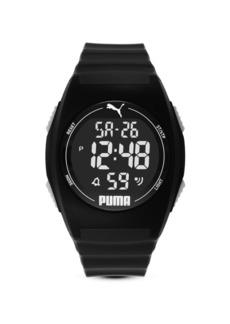 Puma Unisex Puma 4 Lcd, Black-Tone Plastic Watch, P6015