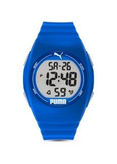 Puma Unisex Puma 4 Lcd, Blue-Tone Plastic Watch, P6013