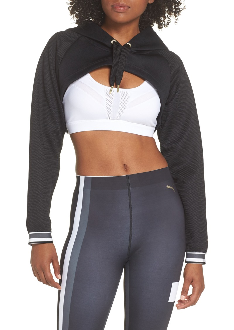 PUMA Varsity Cropped Cover-Up Hoodie