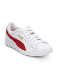 PUMA Vikky Leather & Suede Platform Sneakers