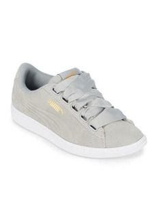 PUMA Vikky Leather Low-Top Sneakers
