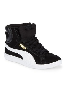PUMA Vikky Suede Mid-Top Sneakers