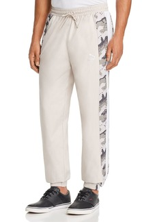 PUMA Wild Pack Leopard Camouflage-Striped Track Pants