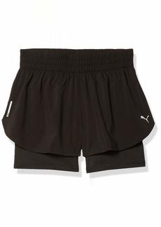 PUMA Women's 2 in 1 Running Shorts Black S