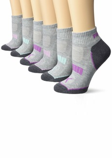 PUMA Women's 6 Pack Quarter Crew Socks