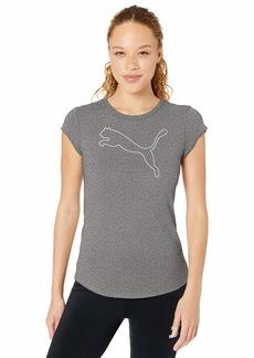 PUMA Women's Active T-Shirt Black Heather S
