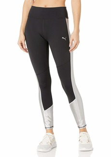 PUMA Women's After Glow 7/8 Tight Black-Titanium Silver L