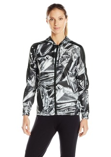 PUMA Women's All Over Print T7 Wind Jacket White