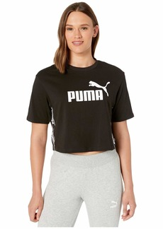PUMA Women's Amplified Cropped TEE Black M