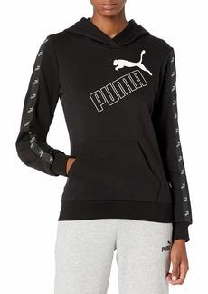 PUMA Women's Amplified Fleece Hoodie Black XL