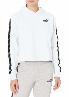 PUMA Women's Amplified French Terry Cropped Hoodie White XL