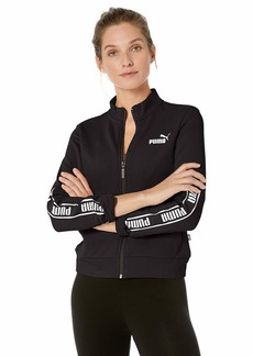 PUMA Women's Amplified French Terry Full Zip Jacket Black M