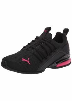 PUMA Women's Axelion Running Shoe Black-Bright Rose