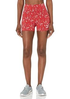 PUMA Women's Bae Short Tights American Beauty-AOP