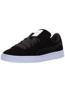 PUMA Women's Basket Classic Velour Velvet Rope Sneaker Black-Icelandic Blue  M US