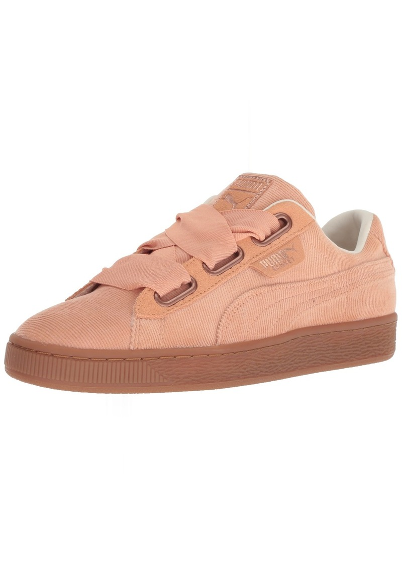 PUMA Women's Basket Heart Corduroy Sneaker Dusty Coral  M US