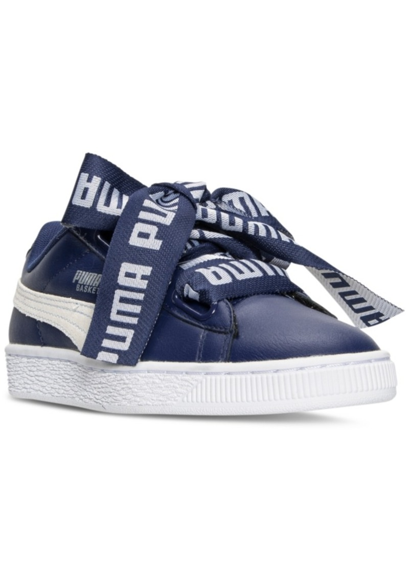 premium selection 0767b 39feb Puma Women s Basket Heart De Casual Sneakers from Finish Line