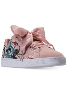 Puma Women's Basket Heart Hyper Emboss Casual Sneakers from Finish Line