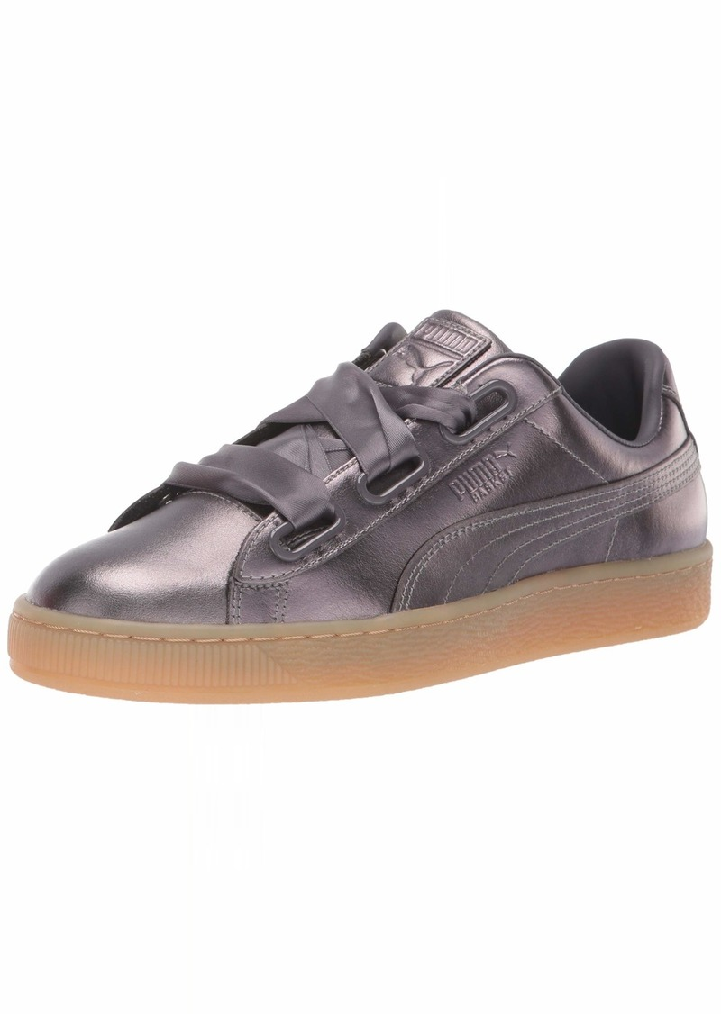 PUMA Women's Basket Heart Patent Sneaker Quiet Shade  M US