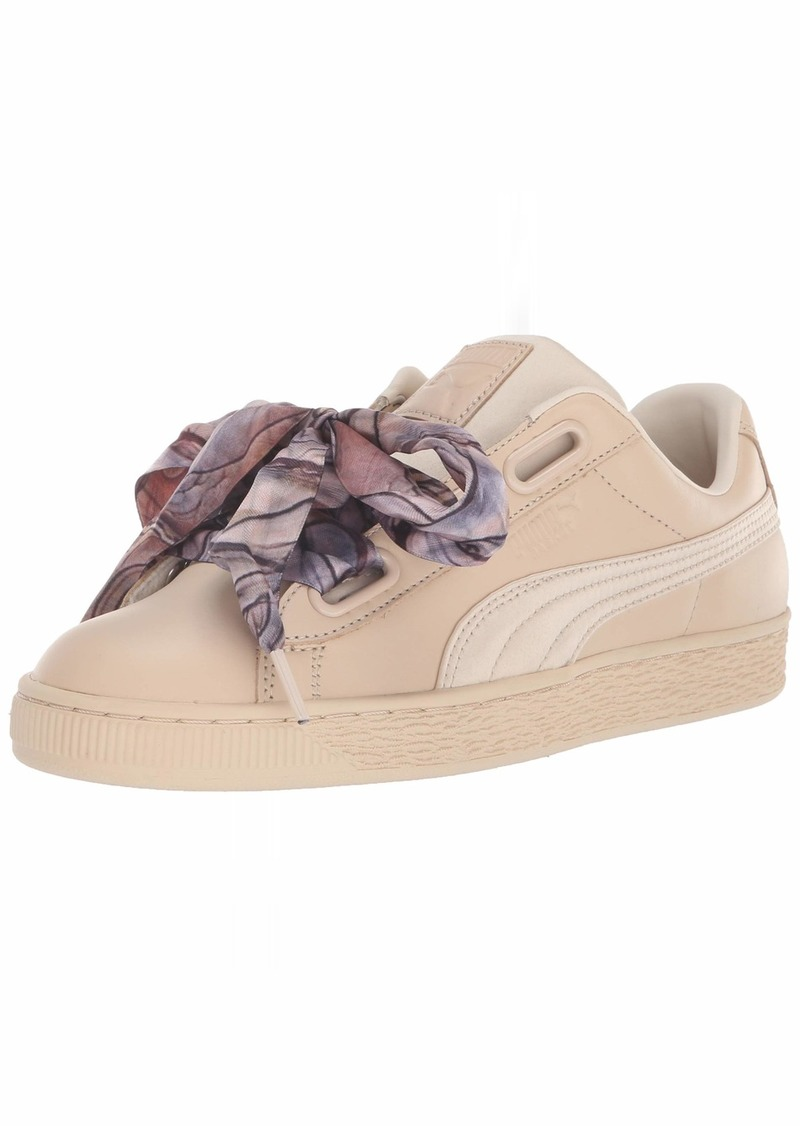 PUMA Women's Basket Heart Patent Sneaker Vanilla Cream  M US