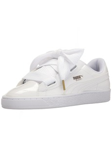 PUMA Women's Basket Heart Patent WN's Sneaker White