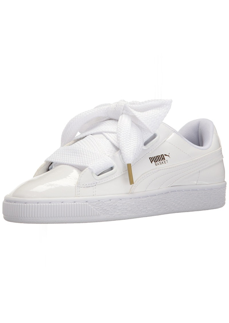 PUMA Women's Basket Heart Patent WN's Sneaker White  M US