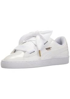 PUMA Women's Basket Heart Patent WN's Sneaker White White
