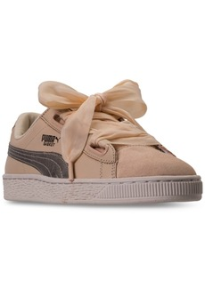 Puma Women's Basket Heart Up Casual Sneakers from Finish Line