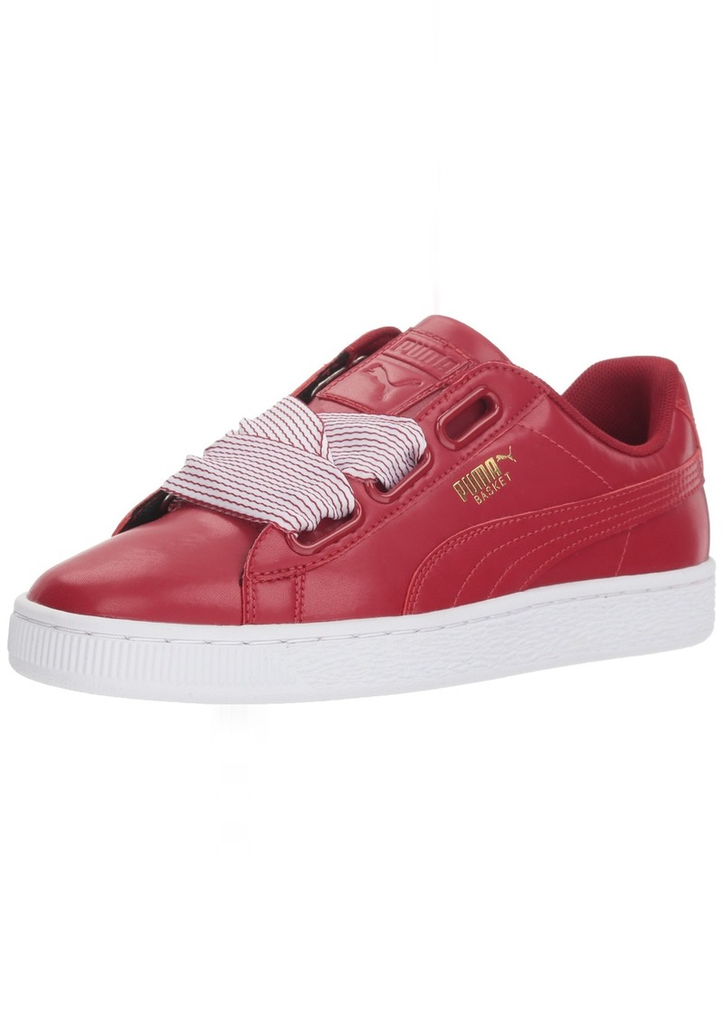 PUMA Women's Basket Heart Wn Sneaker red Dahlia  M US