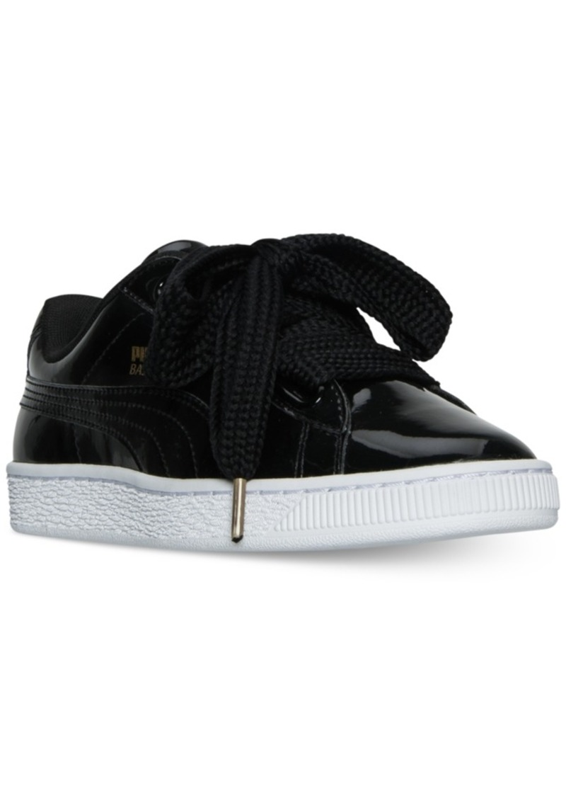 cf1a345ab9c7 Puma Puma Women s Basket Hearts Patent Sneakers from Finish Line