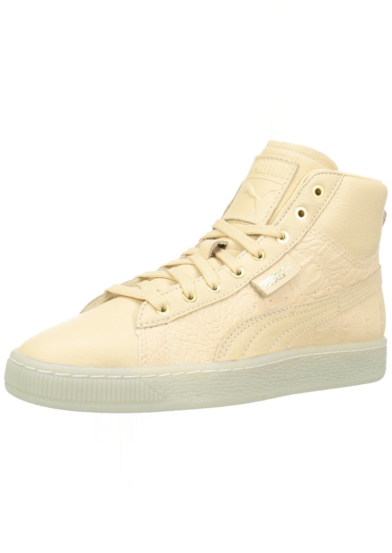 PUMA Women's Basket Mid Ali WN's Fashion Sneaker Natural Vachetta Team Gold  M US