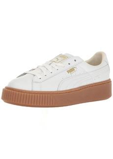 PUMA Women's Basket Platform Core Sneaker White White M US