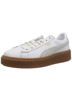 PUMA Women's Basket Platform Euphoria Gum Sneaker White-Rose Gold  M US
