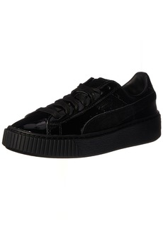 PUMA Women's Basket Platform Patent Fashion Sneaker   M US
