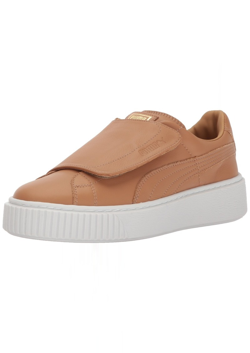 PUMA Women's Basket Platform Strap Wn Sneaker Apple Cinnamon White  M US
