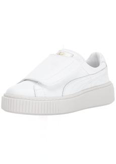 PUMA Women's Basket Platform Strap Wn Sneaker White White