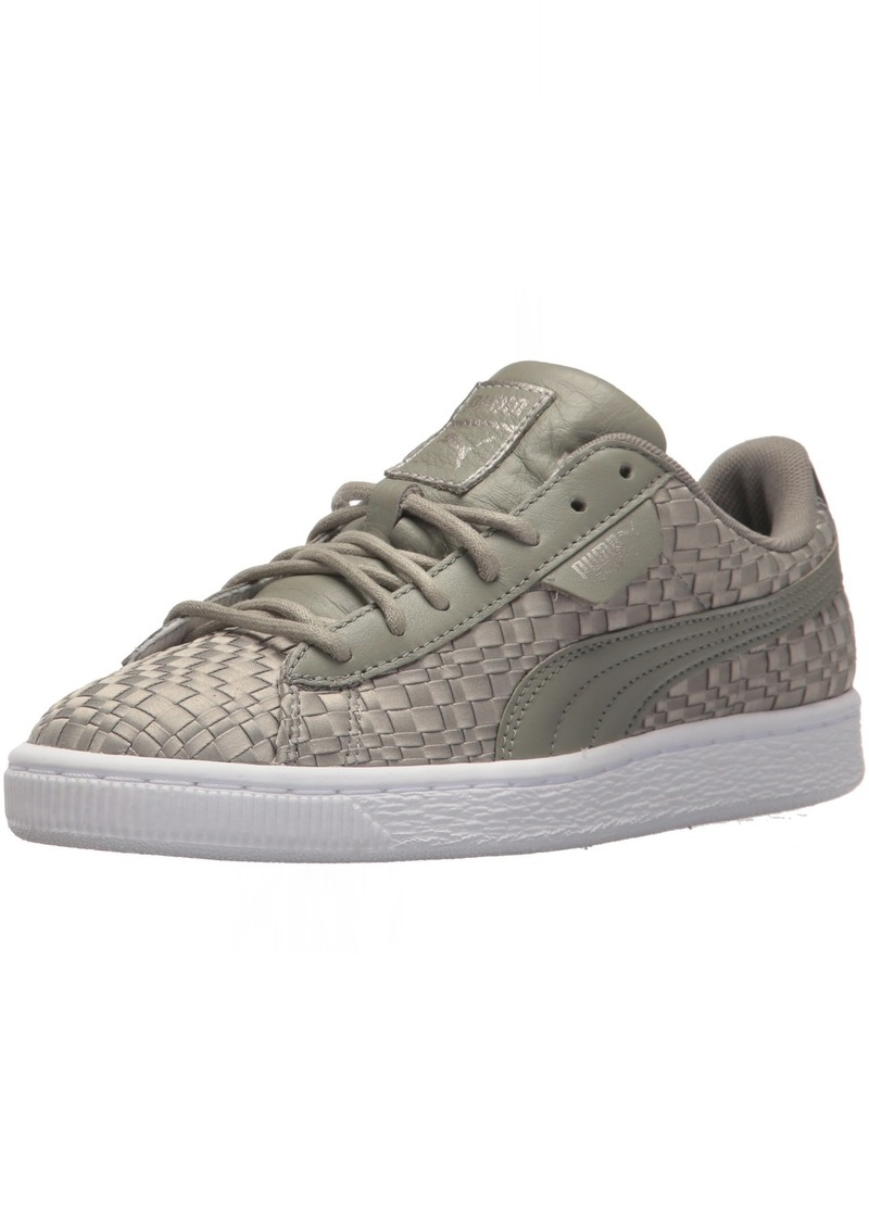 PUMA Women's Basket Satin En Pointe Wn Sneaker Rock Ridge  M US