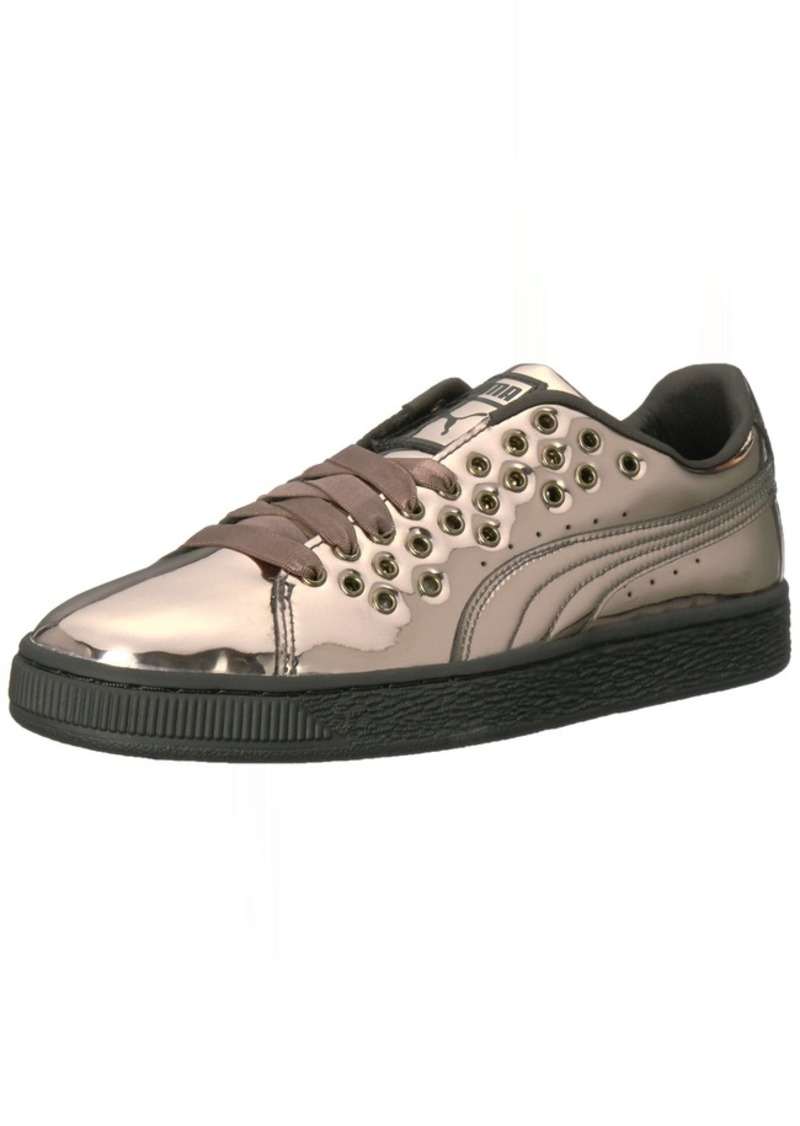 PUMA Women's Basket XL Lace Metal Wn Sneaker Puma -Puma   M US