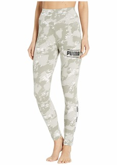 PUMA Women's Camo Pack Leggings White/AOP